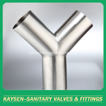 304 Sanitary Welded Tee Y-type Stainless Steel